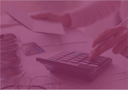 using calculator pink overlay bg