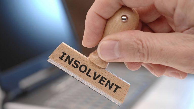 insolvent stamp marker